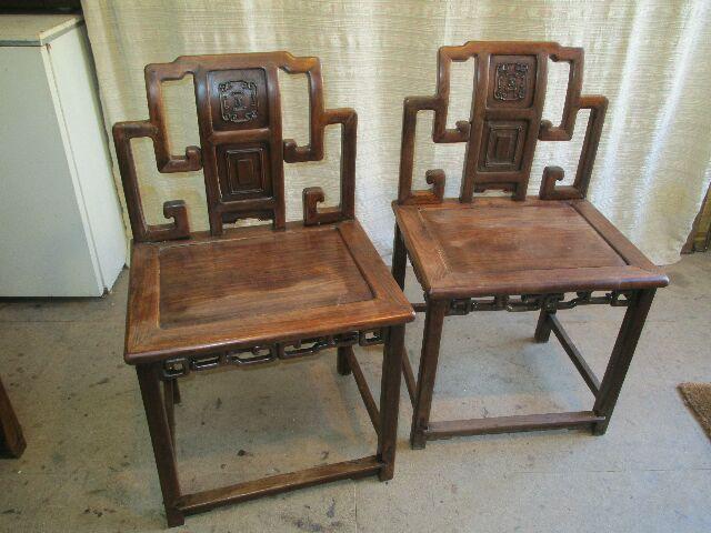 Chaises chinoises en palissandre