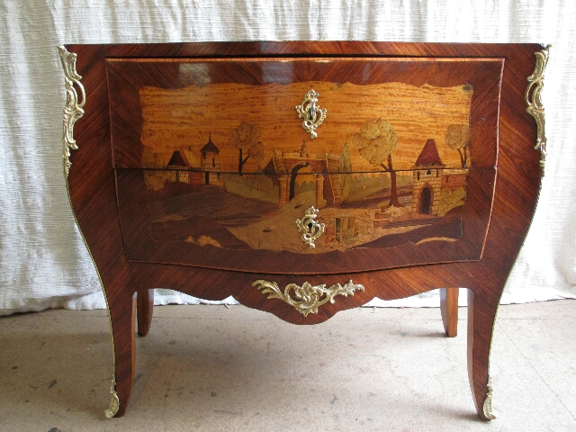 Commode marqueterie Louis XV