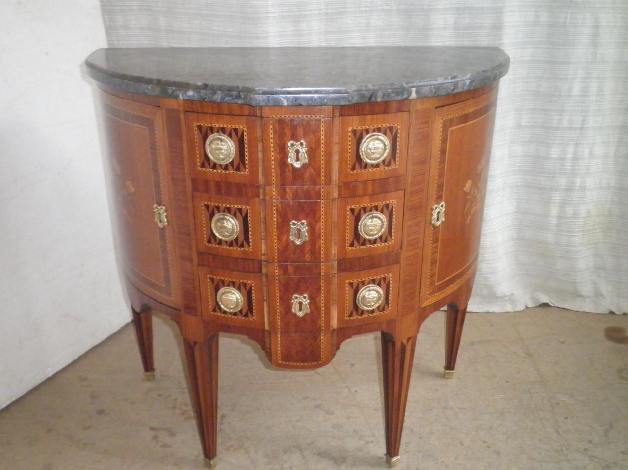 Console demi lune Louis XVI
