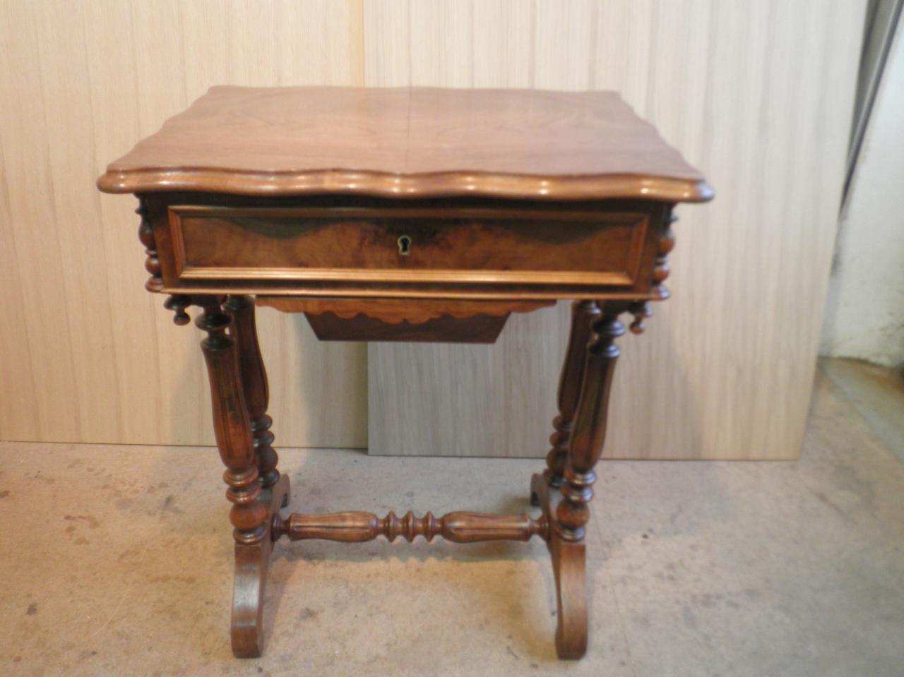 Travailleuse ancienne coiffeuse rangement bijoux 190 - Coiffeuse meuble ancien ...